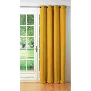 double rideaux jaunes achat vente double rideaux. Black Bedroom Furniture Sets. Home Design Ideas