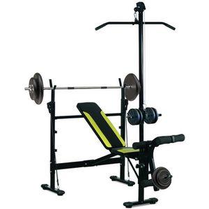 Station banc de musculation multifonction dossier ajustable support d halt re - Station de musculation pas cher ...