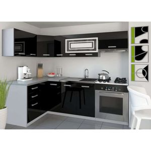 cuisine equipee moderne achat vente cuisine equipee moderne pas cher cdiscount. Black Bedroom Furniture Sets. Home Design Ideas