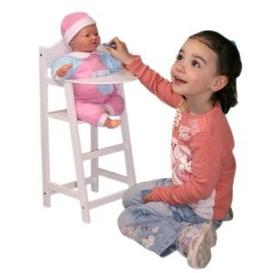 chaise haute de poupee avec poupon achat vente jeux et jouets pas chers. Black Bedroom Furniture Sets. Home Design Ideas