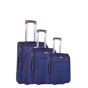 SET DE VALISES Set de 3 valises 2 roues casual essentiel bleu