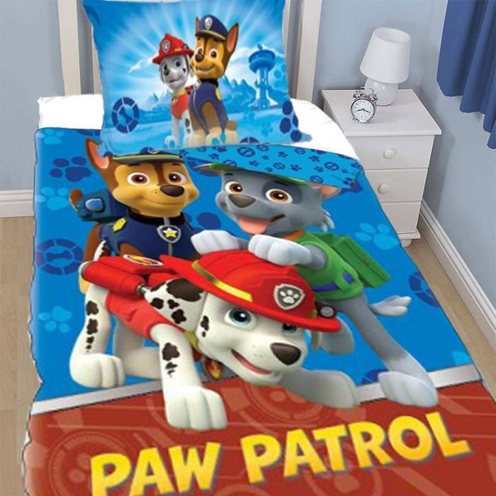 housse de couette paw patrol pat patrouille fun u achat vente housse de couette soldes. Black Bedroom Furniture Sets. Home Design Ideas