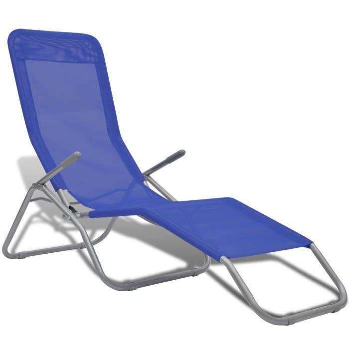 chaise longue pvc achat vente chaise longue pvc pas cher cdiscount. Black Bedroom Furniture Sets. Home Design Ideas