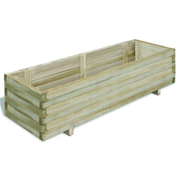 jardini re en bois rectangulaire 120 x 40 x 30 cm achat. Black Bedroom Furniture Sets. Home Design Ideas
