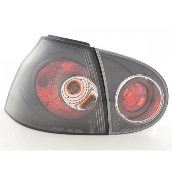 feux arri res pour vw golf 5 type 1k an 03 08 noir achat vente phares optiques feux. Black Bedroom Furniture Sets. Home Design Ideas