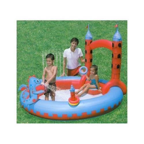 Chateau aire de jeu jardin gonflable piscine pataugeoire - Jouet gonflable piscine ...
