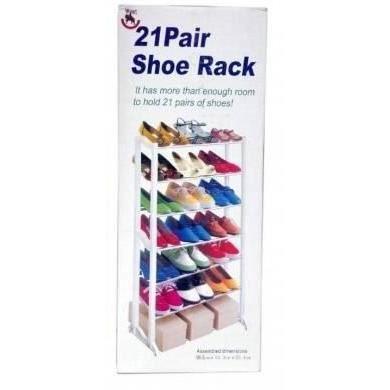 21 paire de chaussures portant organisateur rangement tag res 7 niveau achat vente meuble. Black Bedroom Furniture Sets. Home Design Ideas
