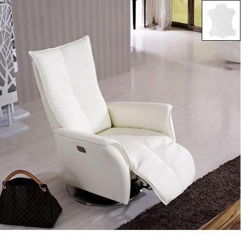 Elite fauteuil relax lectrique cuir vachette achat vente fauteuil cui - Fauteuils relax electrique ...