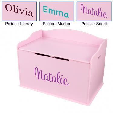 Coffre jouet en bois rose personnalisable achat vente coffre jouets 2009968977285 - Coffre a jouet rose ...