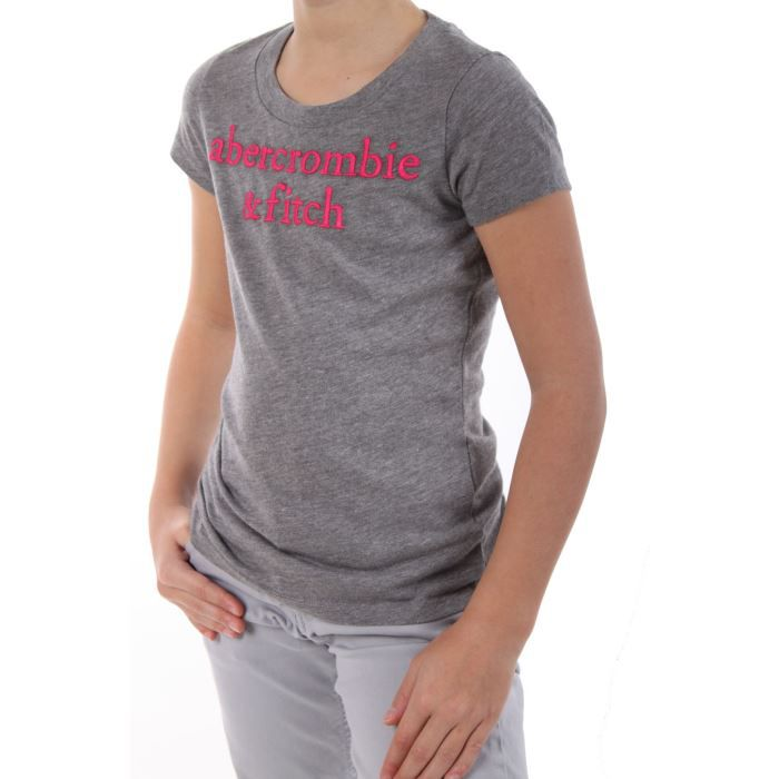 Tee shirt abercrombie fitch fille gris marque for Abercrombie and fitch tee shirts