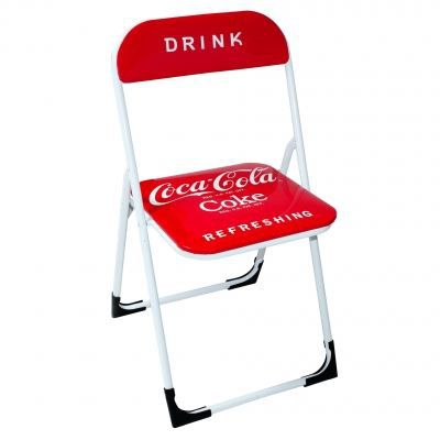 chaise pliante coca cola rouge achat vente chaise mati re de la structure m tal soldes. Black Bedroom Furniture Sets. Home Design Ideas