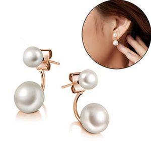 boucle d oreille double perles achat vente pas cher. Black Bedroom Furniture Sets. Home Design Ideas