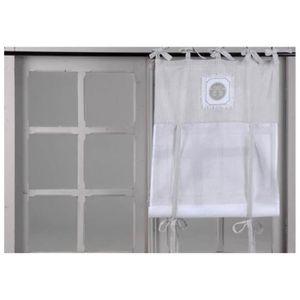 rideau fenetre salle de bain achat vente rideau fenetre salle de bain pas cher cdiscount. Black Bedroom Furniture Sets. Home Design Ideas