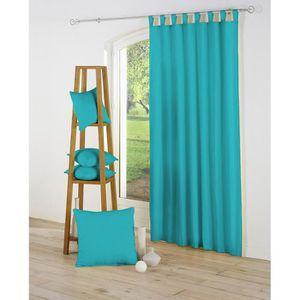 double rideaux bleu achat vente double rideaux bleu pas cher les soldes sur cdiscount. Black Bedroom Furniture Sets. Home Design Ideas