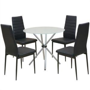 Table chaise cuisine noire achat vente table chaise - Ensemble table et chaise salle a manger pas cher ...
