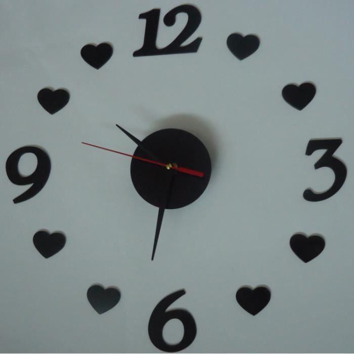 Horloge murale 3deffe acrylique horloge murale cor ens for Horloge murale 3 cadrans