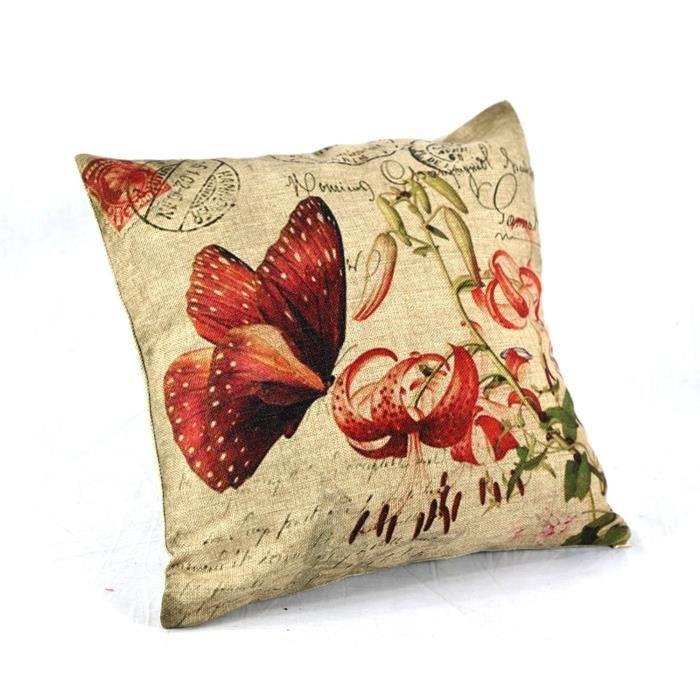 Dreamshop taie d 39 oreiller couverture coussin en lin coton for Taie d oreiller pour canape