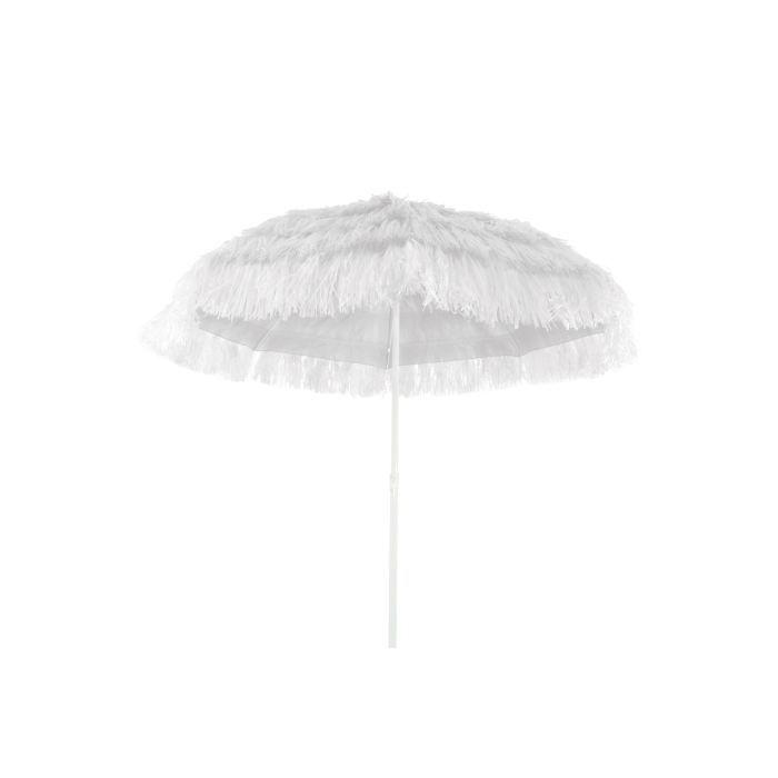 parasol pour plage centr honolulu blanc achat vente parasol ombrage parasol centr. Black Bedroom Furniture Sets. Home Design Ideas
