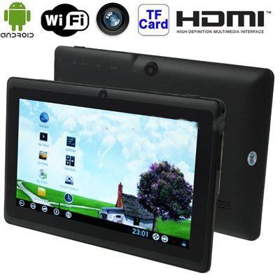 tablette tactile 7 pouces noire q88s noir 7 0 prix. Black Bedroom Furniture Sets. Home Design Ideas