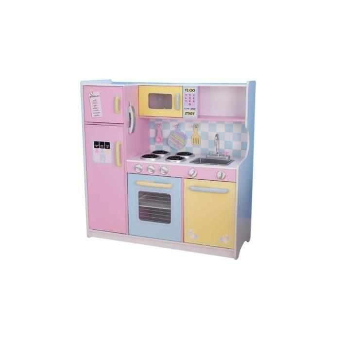 Cuisine enfant large pastel achat vente dinette - Cuisine couleur pastel ...