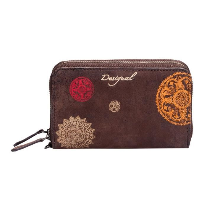 Desigual portefeuille double zip small indisoft 58y53b3 for Portefeuille desigual