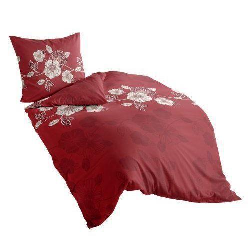 8017 60 irisette dublin parure de lit en flanelle rouge 60 coton rouge 155 - Parure de lit discount ...