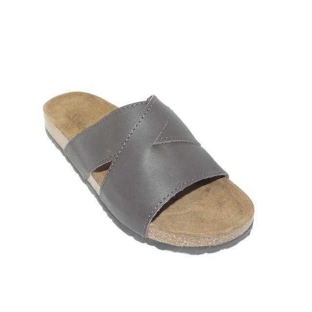 sandales homme mules cuir marron marron marron achat vente sandale nu pieds cdiscount. Black Bedroom Furniture Sets. Home Design Ideas