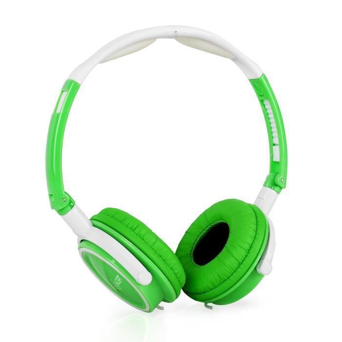 oneconcept street dj casque audio avec micro vert blanc casque couteur prix pas cher. Black Bedroom Furniture Sets. Home Design Ideas