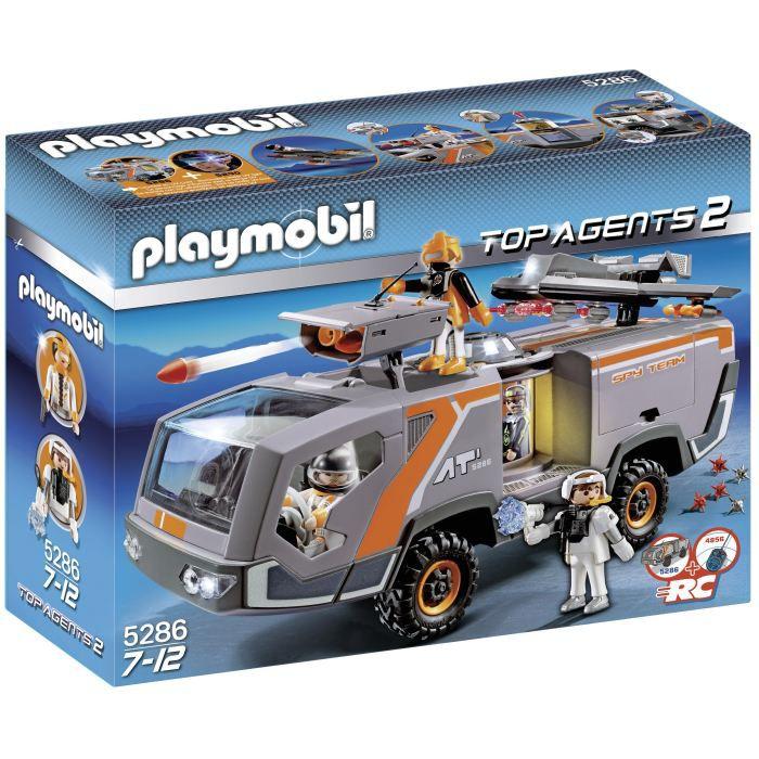 Playmobil 5286 camion des agents secrets achat vente univers miniature cdiscount - Playmobil camion ...