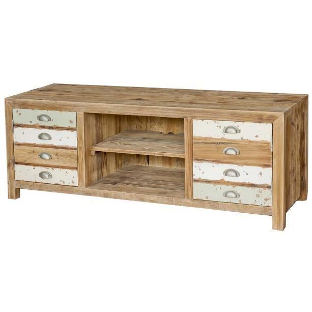 Meuble tv en bois sohan achat vente meuble tv meuble tv en bois sohan c - Meuble tv bois recycle ...