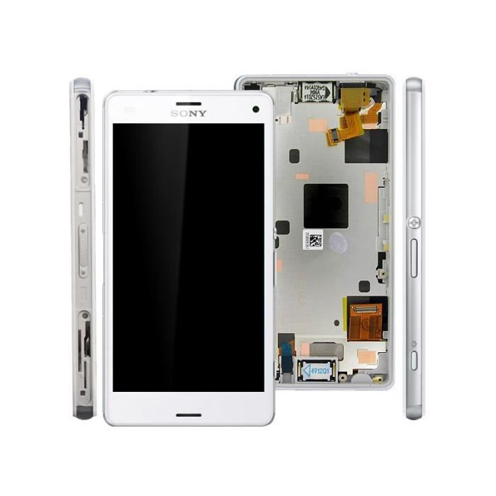 sony xperia z3 compact z3 mini d5803 d5833 ecran complet lcd vitre tactile chassis blanc. Black Bedroom Furniture Sets. Home Design Ideas