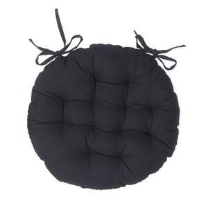 galette de chaise ronde noire