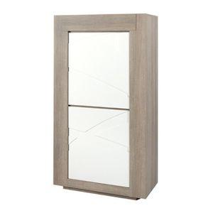 meuble de rangement deux portes a etagere achat vente meuble de rangement deux portes a. Black Bedroom Furniture Sets. Home Design Ideas