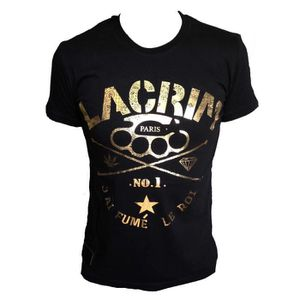 T-shirt manches courtes LACRIM officiel noir inscription or S,M,L,XL