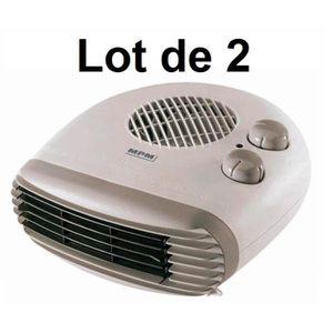 CHAUFFAGE D'APPOINT 2 x Radiateur soufflant électrique MPM, Chauffage