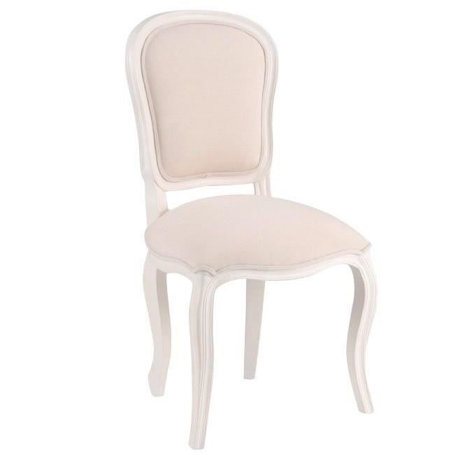 Chaise style louis xv achat vente chaise beige cdiscount - Chaise louis xv occasion ...