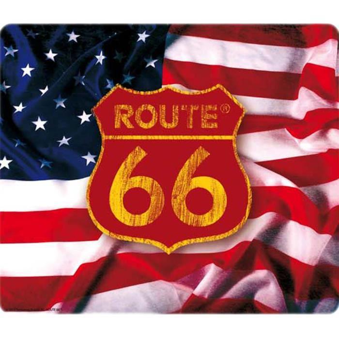 tapis de souris route 66 drapeau achat vente tapis de souris tapis de souris route 66 dr. Black Bedroom Furniture Sets. Home Design Ideas