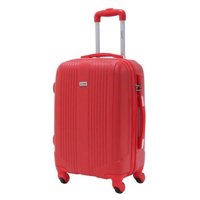 valise taille cabine 55cm alistair airo abs rouge rouge achat vente valise bagage. Black Bedroom Furniture Sets. Home Design Ideas