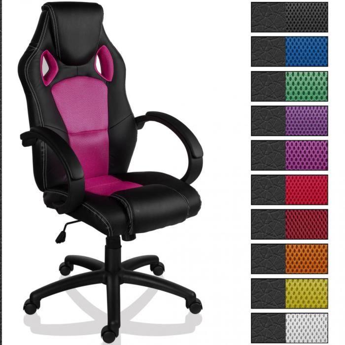 fauteuil chaise de bureau mx racer noir rose achat. Black Bedroom Furniture Sets. Home Design Ideas