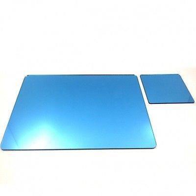 8 napperons bleus miroir acrylique et sous verres achat for Miroir acrylique incassable