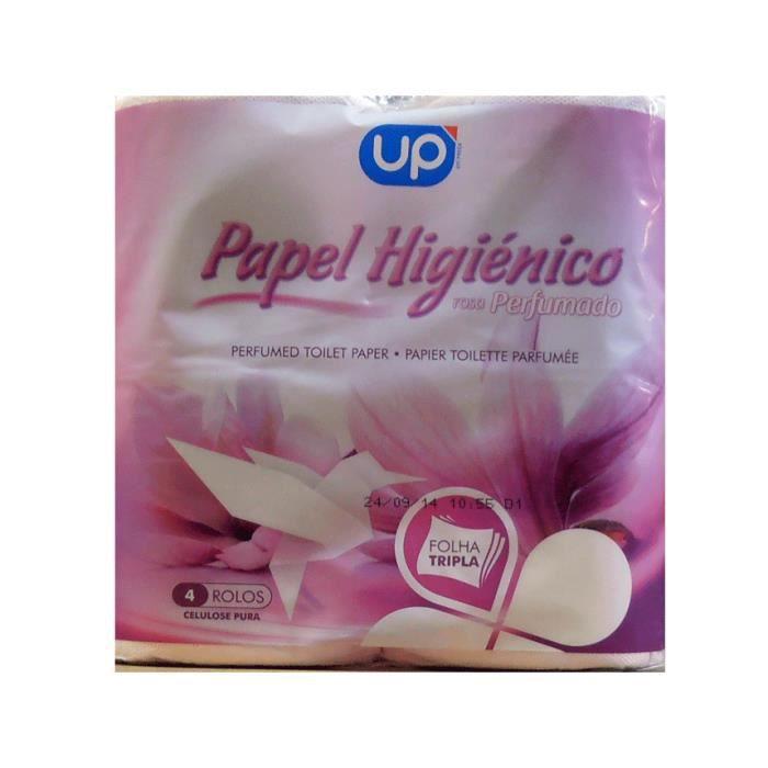 papier toilette rose parfum 4 rouleaux up achat vente papier toilette papier toilette. Black Bedroom Furniture Sets. Home Design Ideas