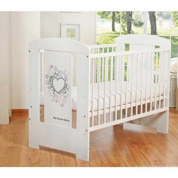 lit b b barreaux 120 x 60 cm coeur gris achat vente. Black Bedroom Furniture Sets. Home Design Ideas