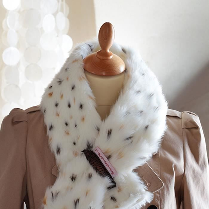 bouillotte tour de cou fausse fourrure lynx echarpe achat vente bouillotte bouillotte tour. Black Bedroom Furniture Sets. Home Design Ideas