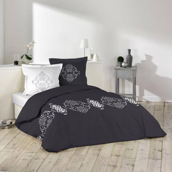 parure de couette 100 coton 57 fils 260x240 persia. Black Bedroom Furniture Sets. Home Design Ideas