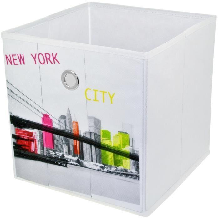 panier de rangement pliable salle de bain d co new york pop art pont de brooklyn 12cm achat. Black Bedroom Furniture Sets. Home Design Ideas