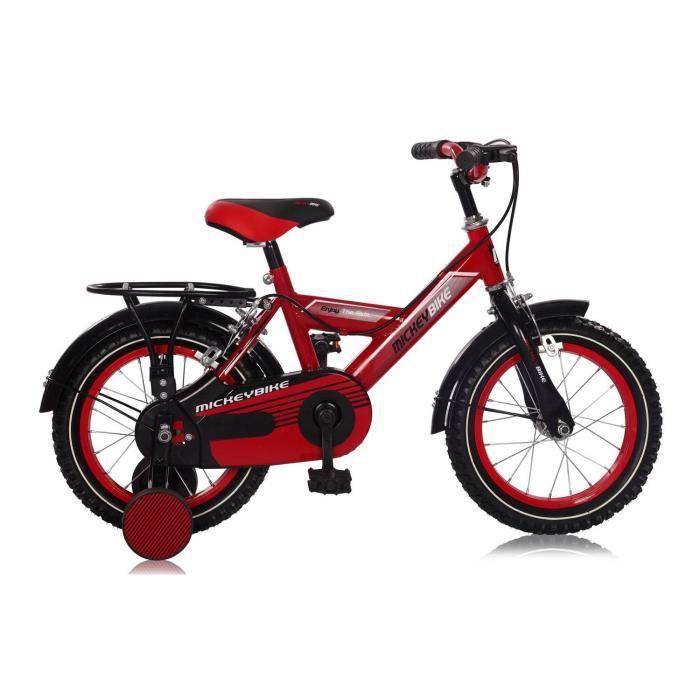 v lo garcon mickey bike 12 14 pouces 12 39 39 rouge prix pas cher cadeaux de no l cdiscount. Black Bedroom Furniture Sets. Home Design Ideas
