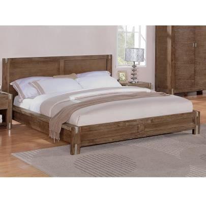 lit florilege 160x200 cm bois et m tal meris achat. Black Bedroom Furniture Sets. Home Design Ideas