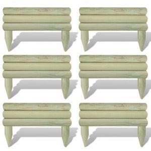 Bordure bois achat vente bordure bois prix d chir cdiscount for Bordures de jardin en bois