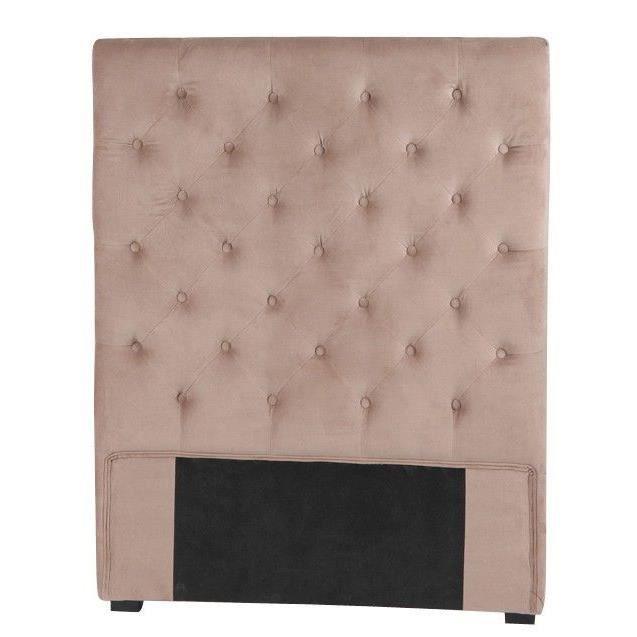 t te de lit 90 taupe achat vente t te de lit cdiscount. Black Bedroom Furniture Sets. Home Design Ideas
