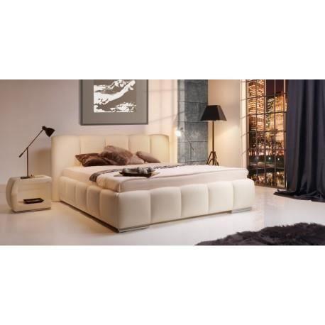 lit capitonne clara 160x200 cuir avec coffre achat. Black Bedroom Furniture Sets. Home Design Ideas